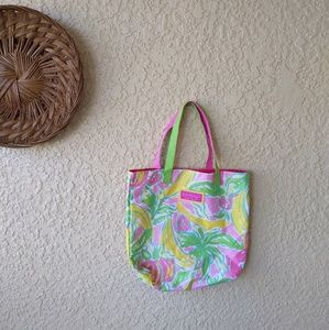 Lilly Pulitzer tote for Estee Lauder banana print
